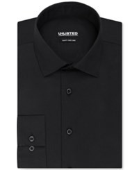 Unlisted By Kenneth Cole Solid Slim Fit Dress Shirt Black