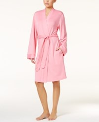 Charter Club French Terry Kimono Robe Pink