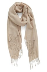 Nordstrom Tissue Weight Wool And Cashmere Scarf Tan Memoir