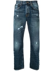 Prps Distressed Straight Jeans Blue