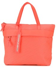 House Of Holland Embroidered Logo Tote Orange