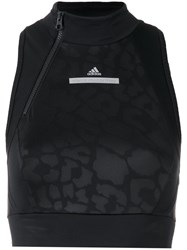 Adidas By Stella Mccartney Run Crop Top Black