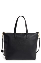 Street Level Slouchy Zip Faux Leather Tote