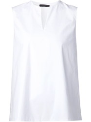 The Row Sleeveless Top White