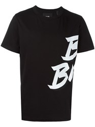 Blood Brother Stylised Print T Shirt Black