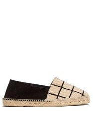 Guanabana Check Patterned Woven And Suede Espadrilles White Multi
