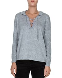 The Kooples Lace Up Hoodie Gray