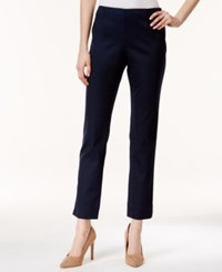 Charter Club Petite Tummy Control Ankle Pants Only At Macy's Deepest Navy