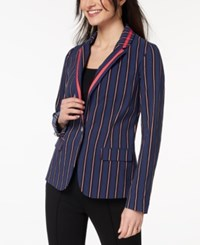 Xoxo Juniors' Gingham Print Blazer Power Stripe