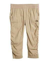 The North Face Aphrodite Ruched Lightweight Capris Beige