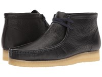 Clarks Wallabee Boot Navy Tumbled Leather Men's Lace Up Boots