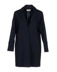 Vicolo Overcoats Dark Blue