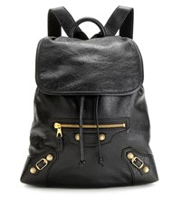 Balenciaga Giant Traveller Extra Small Leather Backpack Black