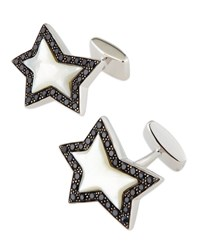 Rock Star Sterling Cuff Links Stephen Webster Blue