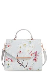Ted Baker London Large Cherry Blossom Faux Leather Satchel