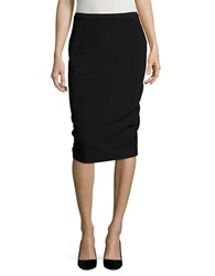T Tahari Embroidered Detail Pencil Skirt Black