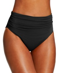 Magicsuit Ruched Swim Brief Bottom Women's Swimsuit Black