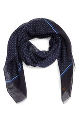 Hickey Freeman Men's Geometric Silk And Wool Scarf