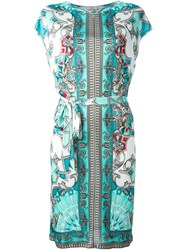 Versace Collection Baroque Print Shortsleeved Dress Multicolour