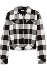 Tomas Maier Cropped Checked Cotton Twill Jacket Black