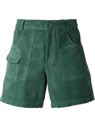 Band Of Outsiders Corduroy Cargo Shorts Green