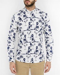 Minimum White Ramon Pr Print Shirt