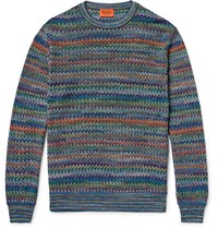 Missoni Crochet Knit Sweater Blue