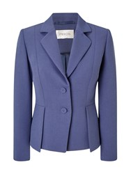 Precis Petite Eliza Peplum Tailored Jacket Navy