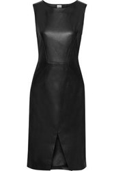 Iris And Ink Woman Toril Split Front Leather Dress Black