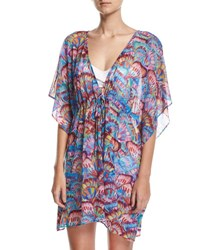 Gottex Madame Butterfly Mesh Tunic Coverup Multi