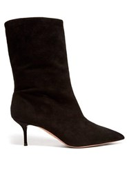 Aquazzura Very Boogie 60 Slouched Suede Boots Black