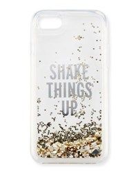 Kate Spade Shake Things Up Iphone 7 Case Clear Gold Glitter