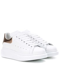 Alexander Mcqueen Leather Platform Sneakers White
