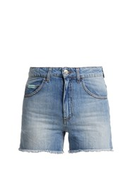 Alexachung High Rise Denim Shorts