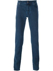 Jacob Cohen Tweed Effect Skinny Jeans Blue
