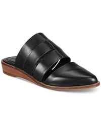 Kelsi Dagger Brooklyn Assembly Two Piece Wedge Flats Women's Shoes Black