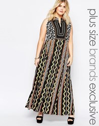 Alice And You Tribal Printed Maxi Dress Black