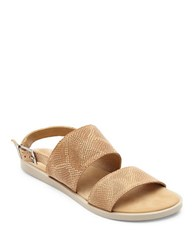 Matisse Opera Leather Flat Sandals Tan