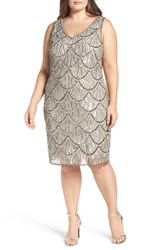Pisarro Nights Plus Size Women's Embellished Sheath Dress