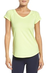 Zella Women's Rise Above Tee Yellow Chill