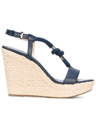 Michael Michael Kors Rope Detail Wedge Sandals Women Cotton Calf Leather Leather Rubber 5 Blue