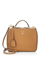 Mark Cross Laura Smooth Leather Satchel Luggage