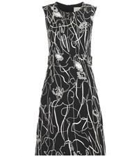 Jason Wu Embellished Crepe Dress Black