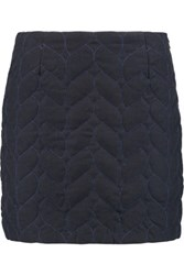 Maje Quilted Felt Mini Skirt Black