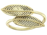 House Of Harlow Sacred Leaf Wrap Ring Gold Ring