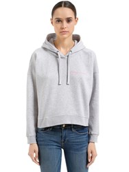 Maison Labiche Crazy In Love Cotton Cropped Sweatshirt Grey