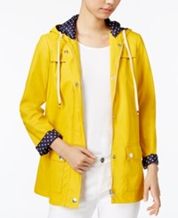 Maison Jules Hooded Raincoat Only At Macy's Maize Gold