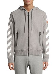 Moncler O Maglia Graphic Cardigan Hoodie Dark Grey