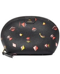 Fossil Gifting Printed Cosmetics Bag Black Multi