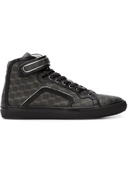 Pierre Hardy Cube Print Hi Top Sneakers Black